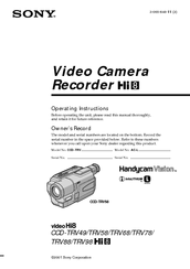 sony ccd trv68 manuals rh manualslib com Sony Hi8 Camcorder Models Sony Hi8 Camcorder Sale