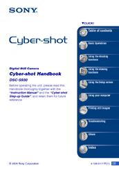 Sony cyber-shot dsc-s930 manuals.