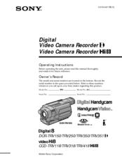 sony dcr trv350 digital handycam camcorder manuals rh manualslib com sony handycam instructions manual dcr sx45 sony handycam dcr-sr52 instruction manual