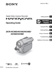 sony handycam dcr hc44e manuals rh manualslib com handycam sony manual español sony handycam manual dcr-sx65