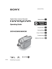 sony handycam dcr hc36 operating manual pdf download