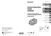 Sony DCR SR100 - Handycam Camcorder - 3.3 MP Operating Manual