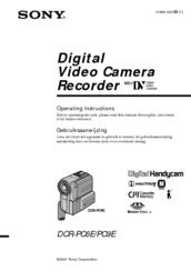 Sony Handycam DCR-PC6E Operating Instructions Manual