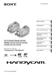 sony dcr sx63 flash memory handycam camcorder manuals rh manualslib com Instruction Manual Operators Manual