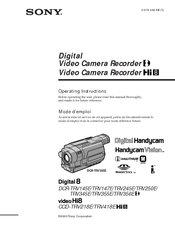 Sony Handycam CCD-TRV218 Operating Instructions Manual