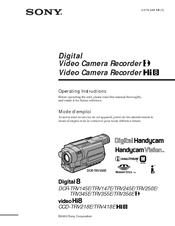 Sony Handycam DCR-TRV147E Operating Instructions Manual Sony