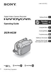 sony handycam dcrhc28 operating manual pdf download rh manualslib com Sony Digital Handycam Manual Sony Handycam Digital 8 Camcorder