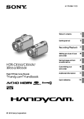 sony handycam hdr xr550 manuals rh manualslib com sony hdr-xr550 user manual sony hdr-xr550v manual