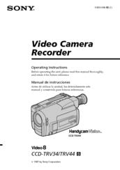 sony video 8 ccd trv34 manuals rh manualslib com sony handycam video 8 troubleshooting sony handycam video hi8 manual