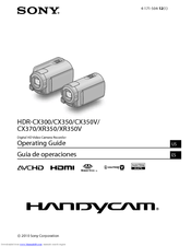 Sony Handycam HDR-CX350 Operating Manual