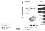 Sony HDR UX1 - AVCHD 4MP High-Definition DVD Camcorder Operating Manual