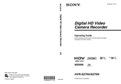 Sony HVR-S270N Operating Manual