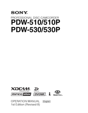 Sony XDCAM PDW-530 Operation Manual