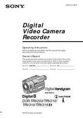 sony digital handycam dcr trv310 manuals rh manualslib com sony digital8 dcr trv310 ntsc manual sony dcr trv20 manual