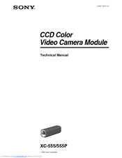 Sony XC-555 Technical Manual