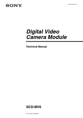 Sony XCD-MV6 Technical Manual