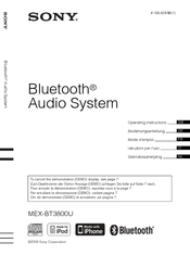 Sony Bluetooth 4-158-429-31(1) Operating Instructions Manual