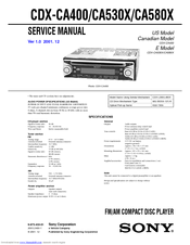 Sony CDX-CA530X Service Manual
