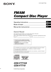 158357_cdxf7710_product sony cdx f7710 operating instructions (english manuals sony cdx f5710 wiring diagram at letsshop.co