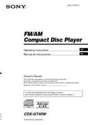 sony xplod cdx gt40w manuals rh manualslib com Sony Cdx-Gt300 Wiring Diagram Sony Cdx-Gt300 Wiring Diagram