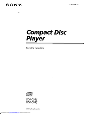 Sony CDP-C265 Operating Instructions Manual