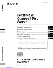 wiring sony diagram cdx c5050x wiring printable wiring sony cdx ca650x fm am compact disc player manuals source