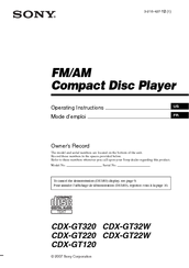 158921_cdxgt220_product sony cdx gt32w fm am compact disc player manuals sony fm am compact disc player wiring diagram at readyjetset.co