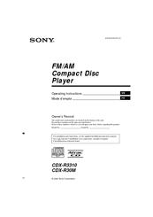 Sony Cdx R3310 Manuals Manualslib