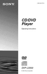 Sony DVP-LS500 Operating Instructions Manual