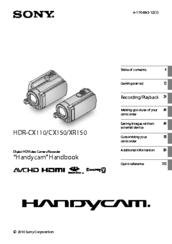 Rick lockyer sony handycam hdr cx150 user manual sony fandeluxe Gallery