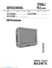 sony fd trinitron kv 21fx30b service manual pdf download rh manualslib com sony trinitron manuel sony trinitron user manual