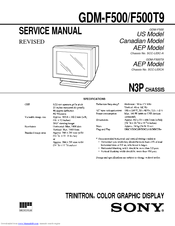Sony trinitron gdm f500 manuals sciox Image collections