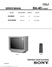 sony trinitron kv 20s90 manuals rh manualslib com Old Sony TV Manuals sony trinitron color tv service manual