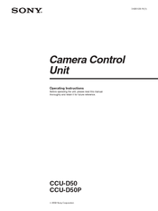 sony ccu d50 operating instructions manual pdf download rh manualslib com Sony Field Recorder sony ccu-d50 service manual
