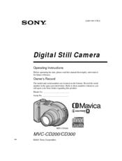 sony cd mavica mvc cd300 operating instructions manual pdf download rh manualslib com Sony Mavica 3 3 sony cd mavica mvc cd400 manual