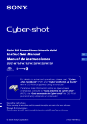 sony dsc w120 cyber shot digital camera manuals rh manualslib com sony cyber shot dsc-w120 camera manual sony cyber shot dsc-w120 manual español