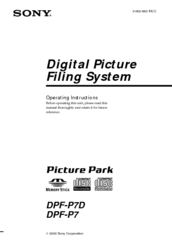 Sony DPF-P7 Operating Instructions Manual