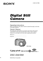 Sony dsc-s30 s50 level1 ver1. 2 service manual download, schematics.