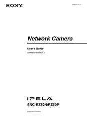 Sony IPELA SNC-RZ50N User Manual