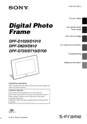 Sony D810 Operating Instructions Manual