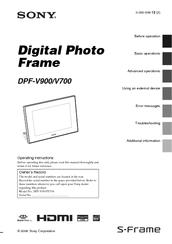 Sony dpf-v900 digital photo frame download instruction manual pdf.