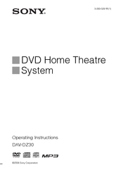 Sony 3-283-028-11(1) Operating Instructions Manual