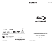 Sony BDP-BX1 - Blu-ray Disc™ Player Operating Instructions Manual
