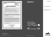Sony BDP-S1 Manual Addendum: Audio Codec Information (firmware ver 2.0 or higher) Operating Instructions Manual