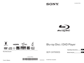 Sony BDP-CX7000ES - 400 Blu-ray Disc Mega Changer Operating Instructions Manual