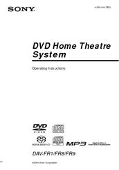 sony dav fr1 manuals rh manualslib com Sony DAV HDX576WF Manual Operators Manual