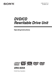 DRU 820A DRIVER FOR PC
