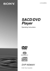 Sony cd/dvd dvp-ns315: dvp-ns415 operating instructions/manual (a5.