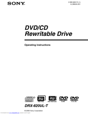 DOWNLOAD DRIVERS: SONY DRX 810UL