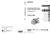 Sony HANDYCAM HDR-FX1000E Operating Manual